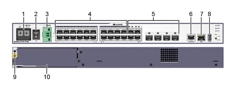 S5700-24TP-SI-DC appearance and structure