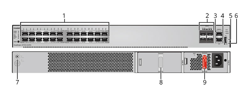 S5735S-S24P4X-A appearance and structure